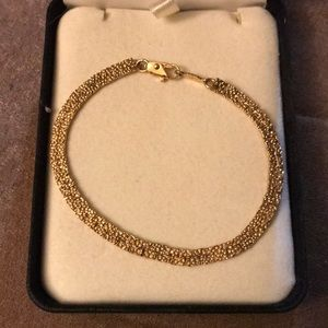 "Gold Tennis Bracelet 6.5"""